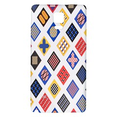 Plaid Triangle Sign Color Rainbow Galaxy Note 4 Back Case by Alisyart