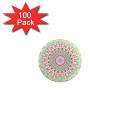 Kaleidoscope Star Love Flower Color Rainbow 1  Mini Magnets (100 Pack)  by Alisyart