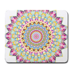 Kaleidoscope Star Love Flower Color Rainbow Large Mousepads by Alisyart