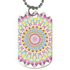 Kaleidoscope Star Love Flower Color Rainbow Dog Tag (two Sides) by Alisyart