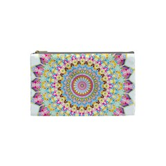 Kaleidoscope Star Love Flower Color Rainbow Cosmetic Bag (small)  by Alisyart