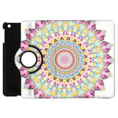 Kaleidoscope Star Love Flower Color Rainbow Apple Ipad Mini Flip 360 Case by Alisyart