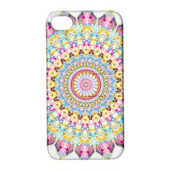 Kaleidoscope Star Love Flower Color Rainbow Apple Iphone 4/4s Hardshell Case With Stand by Alisyart