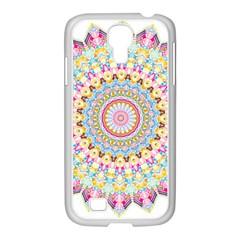 Kaleidoscope Star Love Flower Color Rainbow Samsung Galaxy S4 I9500/ I9505 Case (white)