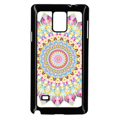 Kaleidoscope Star Love Flower Color Rainbow Samsung Galaxy Note 4 Case (black)