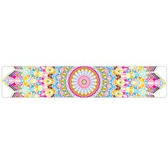 Kaleidoscope Star Love Flower Color Rainbow Flano Scarf (large) by Alisyart