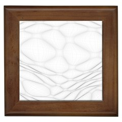 Line Stone Grey Circle Framed Tiles by Alisyart