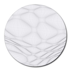 Line Stone Grey Circle Round Mousepads