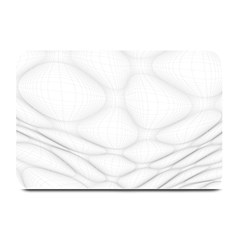 Line Stone Grey Circle Plate Mats by Alisyart