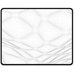 Line Stone Grey Circle Fleece Blanket (medium)  by Alisyart