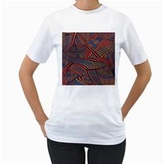 Random Inspiration Women s T Shirt (white) (two Sided) by Alisyart