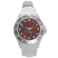 Random Inspiration Round Plastic Sport Watch (l) by Alisyart