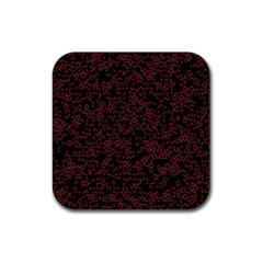 Random Pink Black Red Rubber Square Coaster (4 Pack)  by Alisyart