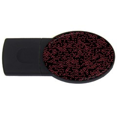 Random Pink Black Red Usb Flash Drive Oval (2 Gb) by Alisyart