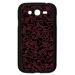 Random Pink Black Red Samsung Galaxy Grand Duos I9082 Case (black) by Alisyart