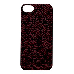 Random Pink Black Red Apple Iphone 5s/ Se Hardshell Case by Alisyart