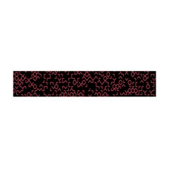 Random Pink Black Red Flano Scarf (mini) by Alisyart