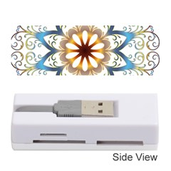 Prismatic Flower Floral Star Gold Green Purple Orange Memory Card Reader (stick)  by Alisyart