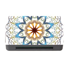 Prismatic Flower Floral Star Gold Green Purple Orange Memory Card Reader With Cf by Alisyart