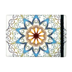 Prismatic Flower Floral Star Gold Green Purple Orange Apple Ipad Mini Flip Case by Alisyart