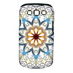 Prismatic Flower Floral Star Gold Green Purple Orange Samsung Galaxy S Iii Classic Hardshell Case (pc+silicone)