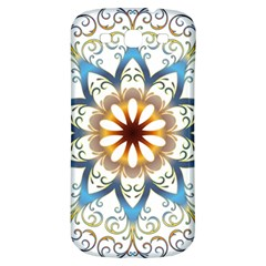 Prismatic Flower Floral Star Gold Green Purple Orange Samsung Galaxy S3 S Iii Classic Hardshell Back Case by Alisyart