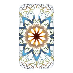 Prismatic Flower Floral Star Gold Green Purple Orange Samsung Galaxy S4 I9500/i9505 Hardshell Case