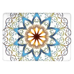 Prismatic Flower Floral Star Gold Green Purple Orange Samsung Galaxy Tab 10 1  P7500 Flip Case