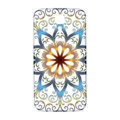 Prismatic Flower Floral Star Gold Green Purple Orange Samsung Galaxy S4 I9500/i9505  Hardshell Back Case