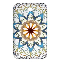 Prismatic Flower Floral Star Gold Green Purple Orange Samsung Galaxy Tab 3 (7 ) P3200 Hardshell Case