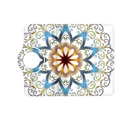Prismatic Flower Floral Star Gold Green Purple Orange Kindle Fire Hd (2013) Flip 360 Case by Alisyart