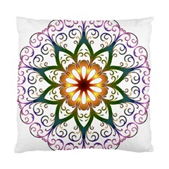 Prismatic Flower Floral Star Gold Green Purple Standard Cushion Case (one Side) by Alisyart