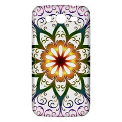 Prismatic Flower Floral Star Gold Green Purple Samsung Galaxy Mega 5 8 I9152 Hardshell Case  by Alisyart