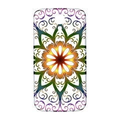 Prismatic Flower Floral Star Gold Green Purple Samsung Galaxy S4 I9500/i9505  Hardshell Back Case