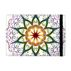 Prismatic Flower Floral Star Gold Green Purple Ipad Mini 2 Flip Cases by Alisyart