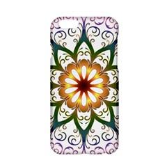 Prismatic Flower Floral Star Gold Green Purple Apple Iphone 6/6s Hardshell Case by Alisyart