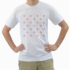 Scrapbook Paper Flower Men s T Shirt (white) (two Sided) by Alisyart