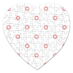 Scrapbook Paper Flower Jigsaw Puzzle (heart) by Alisyart