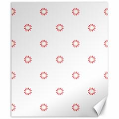 Scrapbook Paper Flower Canvas 8  X 10  by Alisyart
