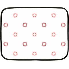 Scrapbook Paper Flower Fleece Blanket (mini) by Alisyart