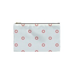 Scrapbook Paper Flower Cosmetic Bag (small)  by Alisyart