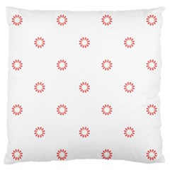 Scrapbook Paper Flower Large Flano Cushion Case (one Side) by Alisyart