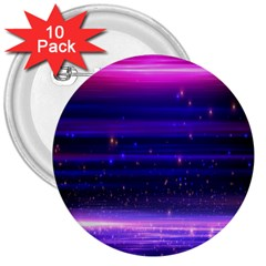 Space Planet Pink Blue Purple 3  Buttons (10 Pack)  by Alisyart