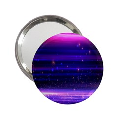 Space Planet Pink Blue Purple 2 25  Handbag Mirrors by Alisyart