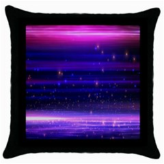 Space Planet Pink Blue Purple Throw Pillow Case (black) by Alisyart