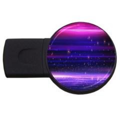 Space Planet Pink Blue Purple Usb Flash Drive Round (2 Gb) by Alisyart