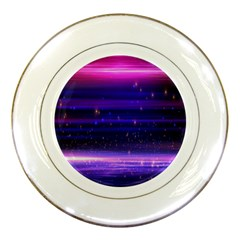Space Planet Pink Blue Purple Porcelain Plates by Alisyart