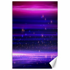 Space Planet Pink Blue Purple Canvas 24  X 36  by Alisyart