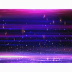 Space Planet Pink Blue Purple Canvas 36  X 48   by Alisyart