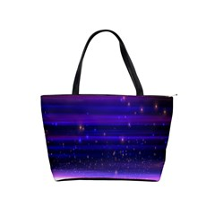 Space Planet Pink Blue Purple Shoulder Handbags by Alisyart
